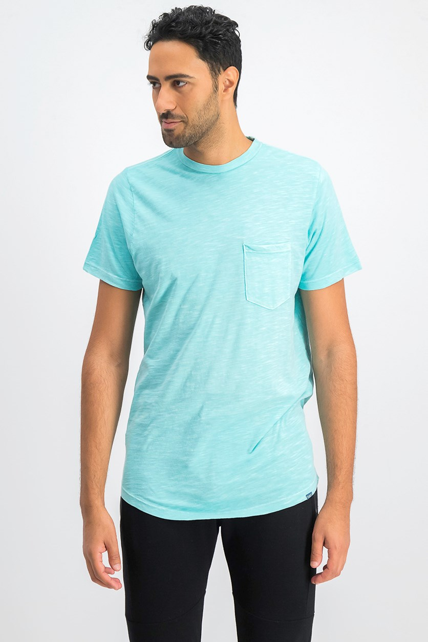 Men's Chest Pocket Tee,Turquoise