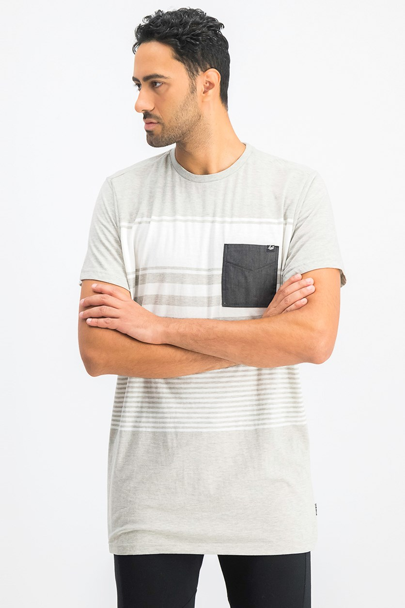 Men's Chest Pocket Tess, Heather Gray