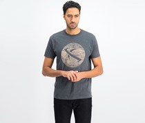 Men's Marble Planet Maui Tee, Heather Charcoal
