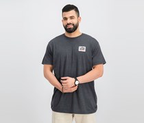 Lost Men's Graphic Printed Tee, Charcoal Heather