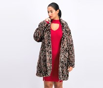 Women's Leopard Jacket, Grey Combo