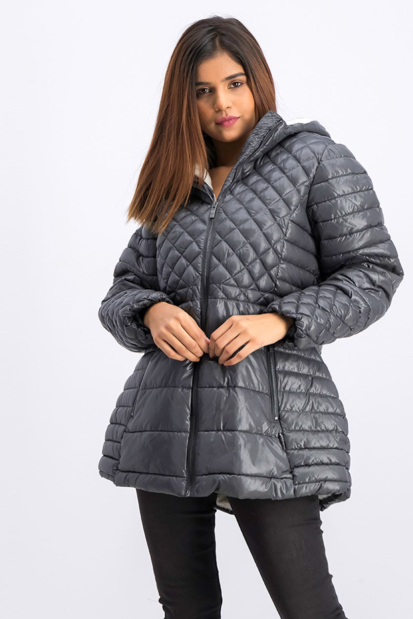 Women's Quilted Jacket, Titanium