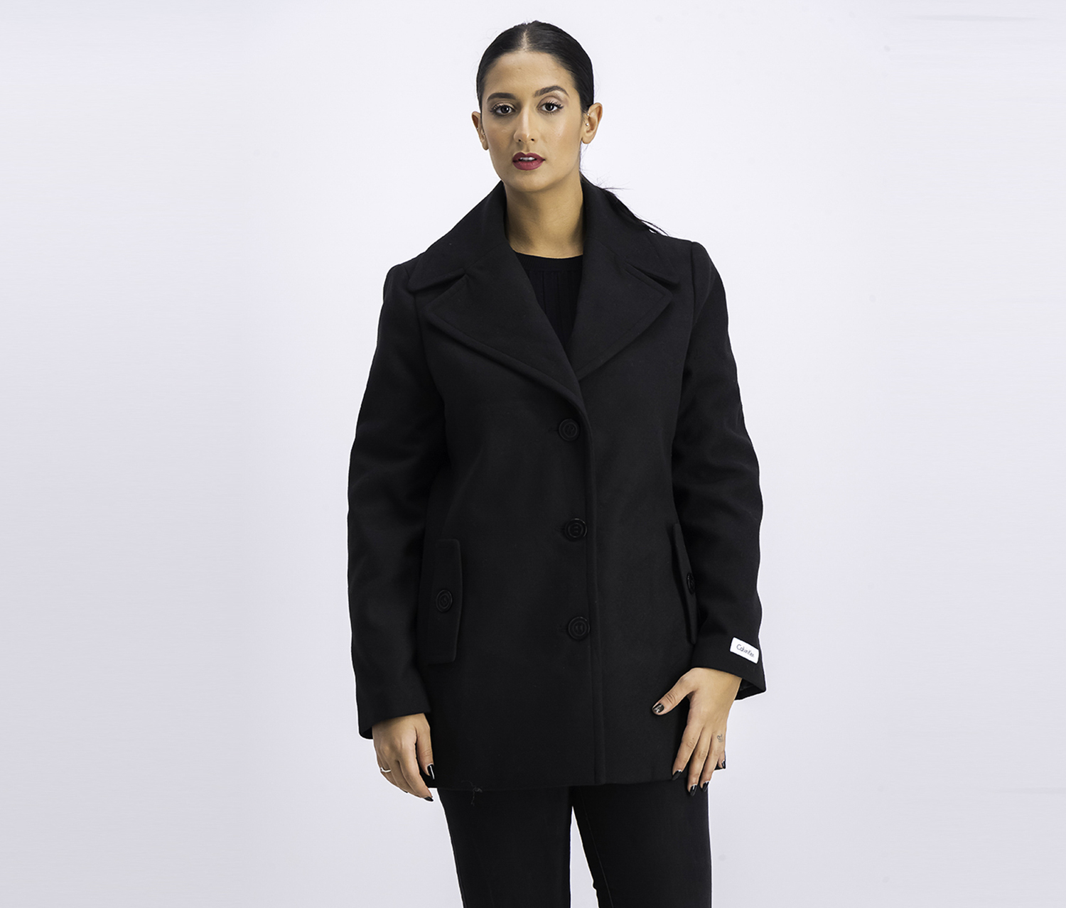 Women's Fine Coat, Black
