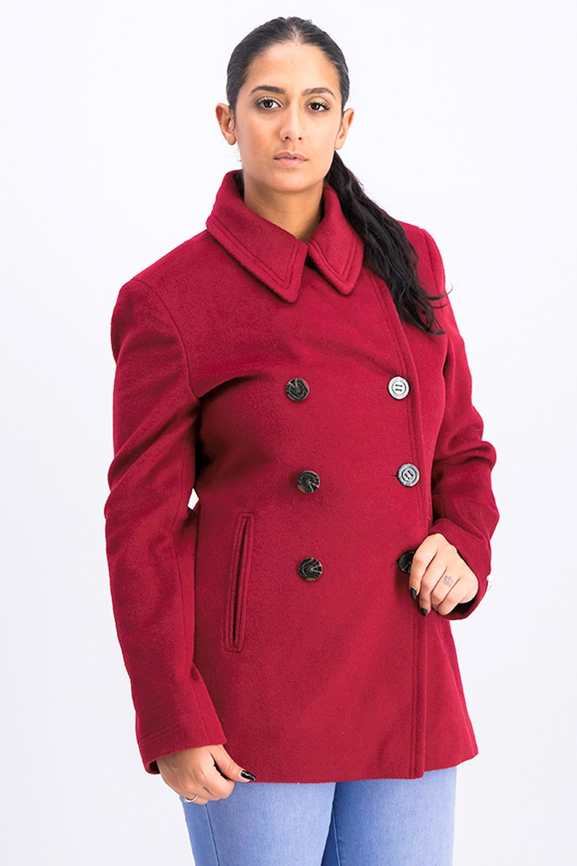 Women's Outerwear Coat, Red