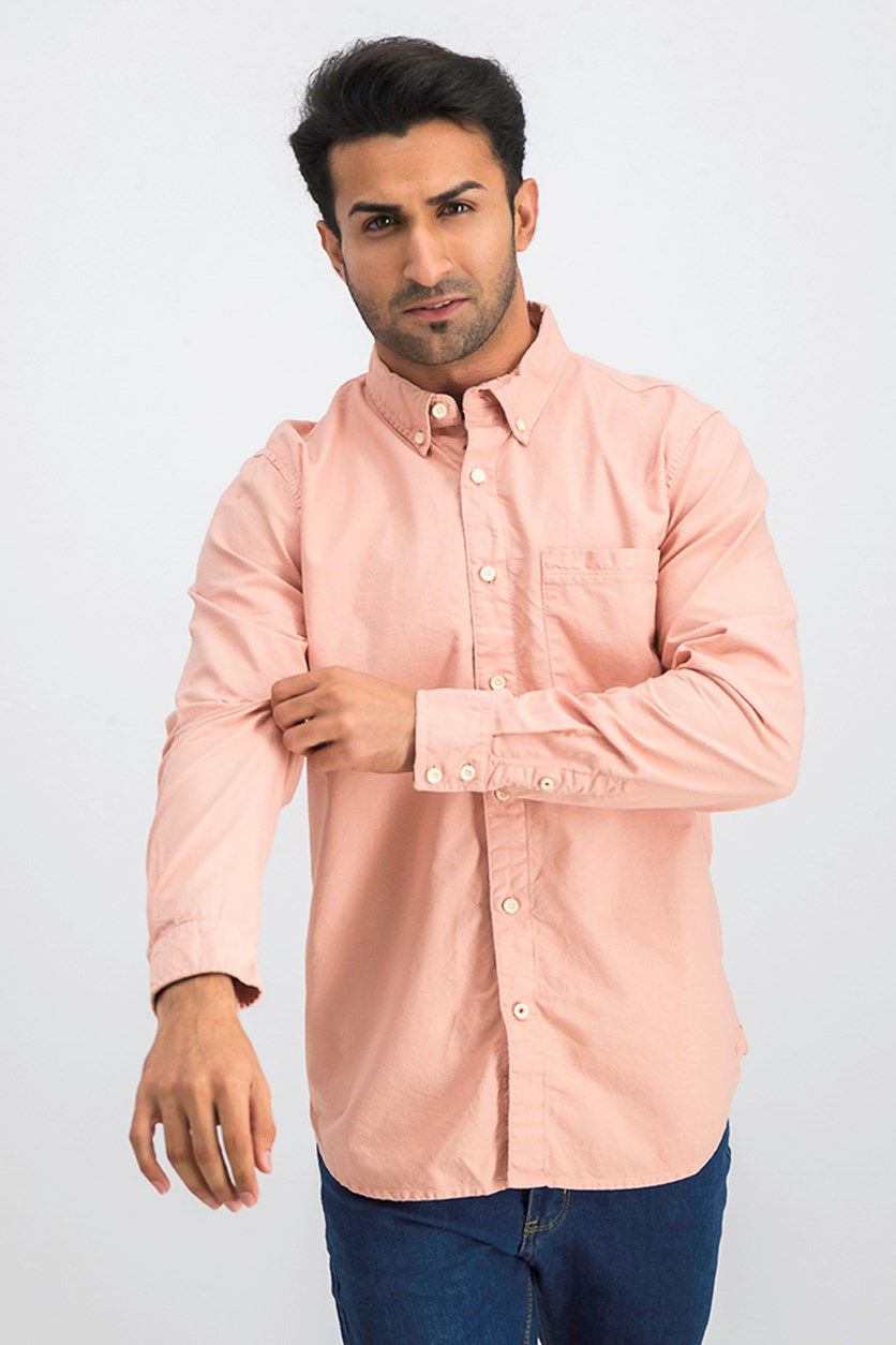 Jeans Sandoval Oxford Button-Down Shirt, Pink Salt