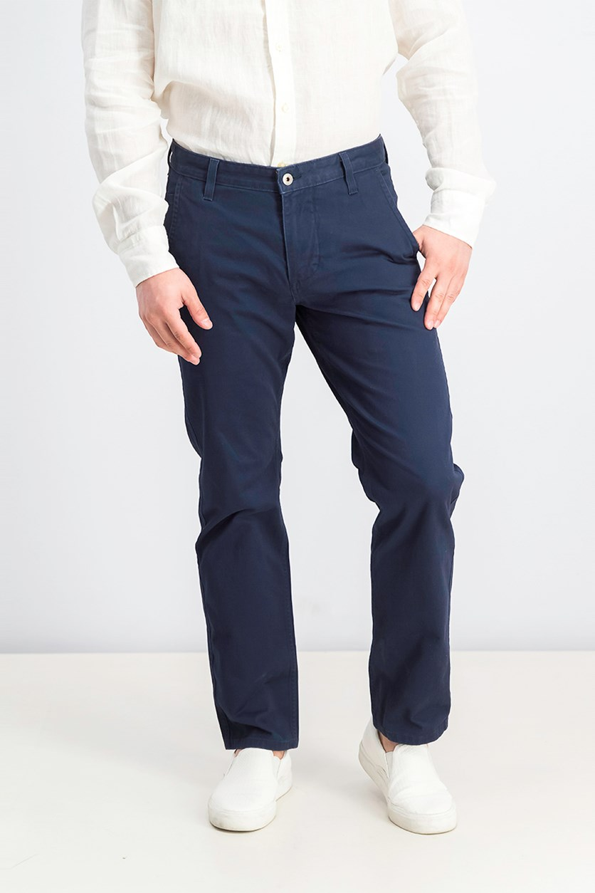 Men's Alpha Khaki Slim-Tapered Stretch Pants, Navy