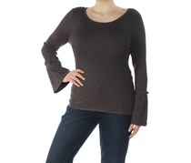 Inc International Concepts Bell-Sleeve Sweater, Dark Charcoal