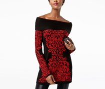 Inc International Concepts Off-The-Shoulder Sweater, Black/Red