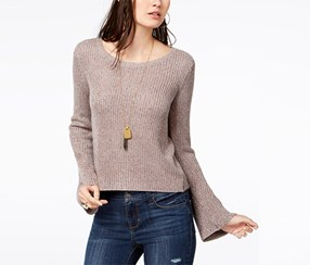 American Rag Women's Bell-Sleeve Sweater, Dusty Rose Comb
