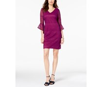 Alfani Bell-Sleeve Lace Shift Dress, Alf Fuchsia