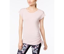 Ideology Side-Tie T-Shirt, Pink