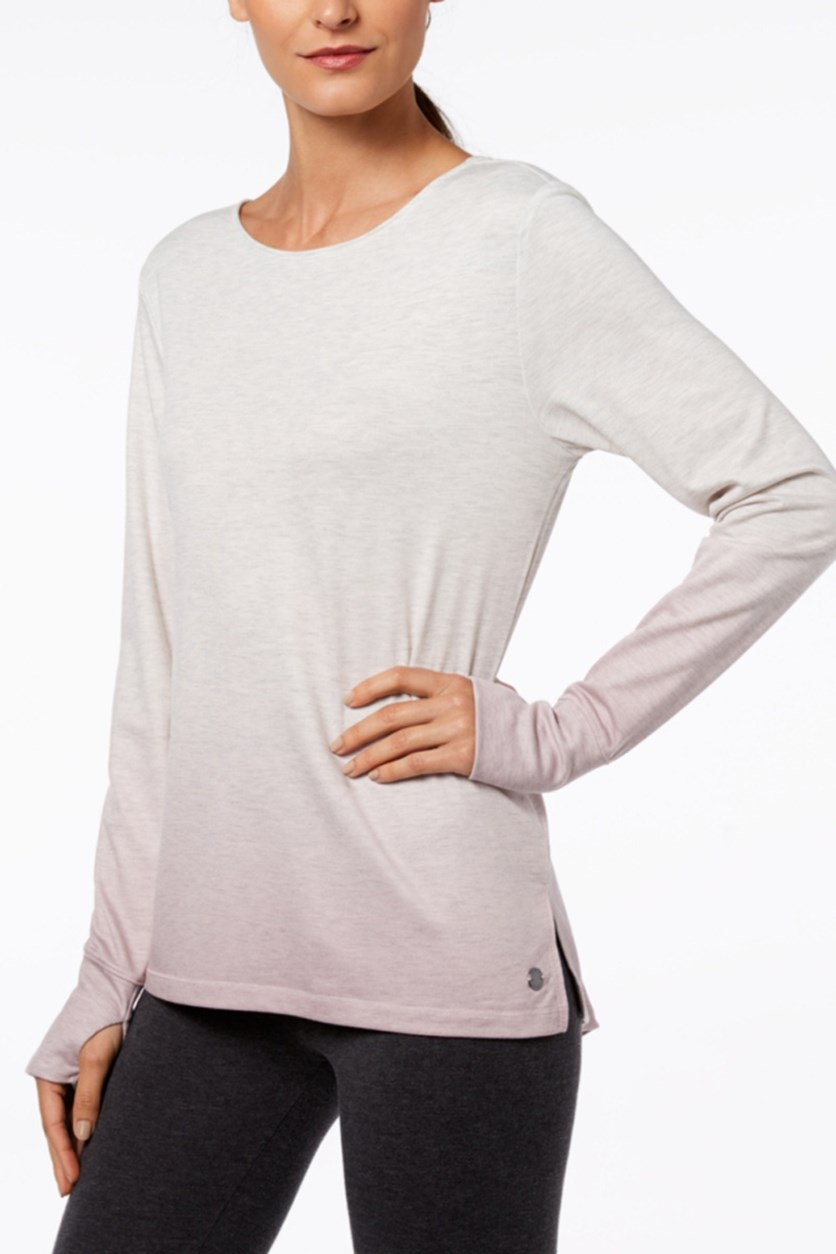Cutout-Back Gradient Top, Med Pink