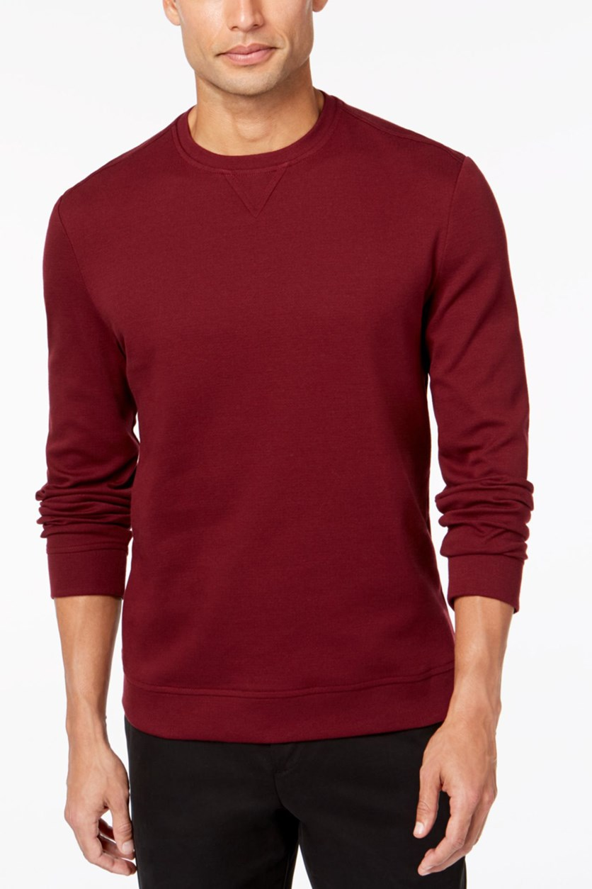 Men's Crewneck Sweatshirt, Burgundy