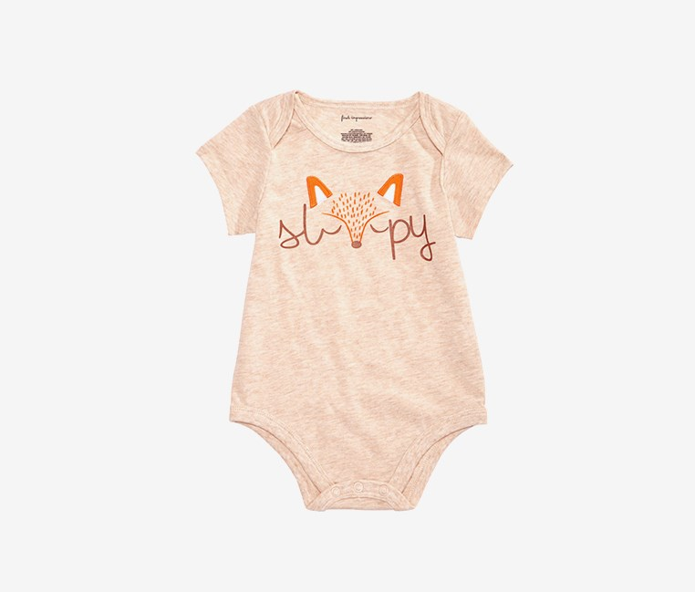 Baby Boys Sleepy Bodysuit, Oat Straw