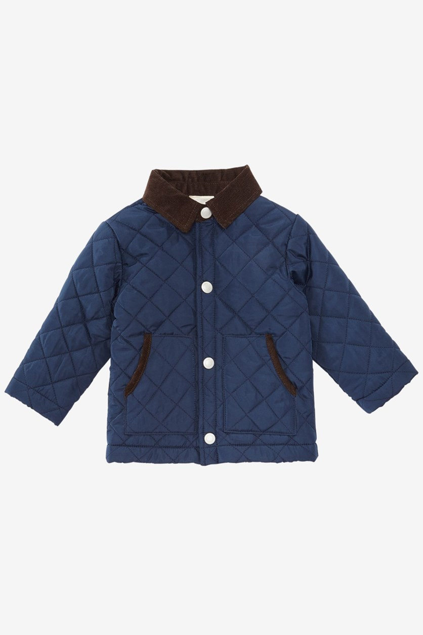Baby Boys Barn Jacket, Navy