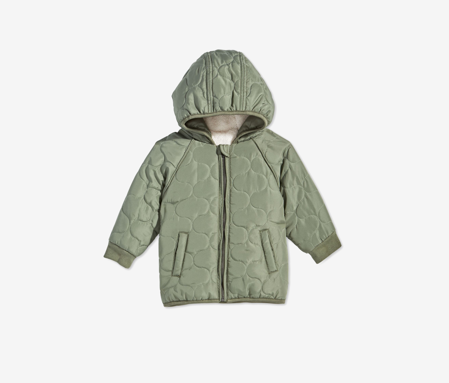 Toddler Boys Hooded Puffer Jacket, Pine Brush