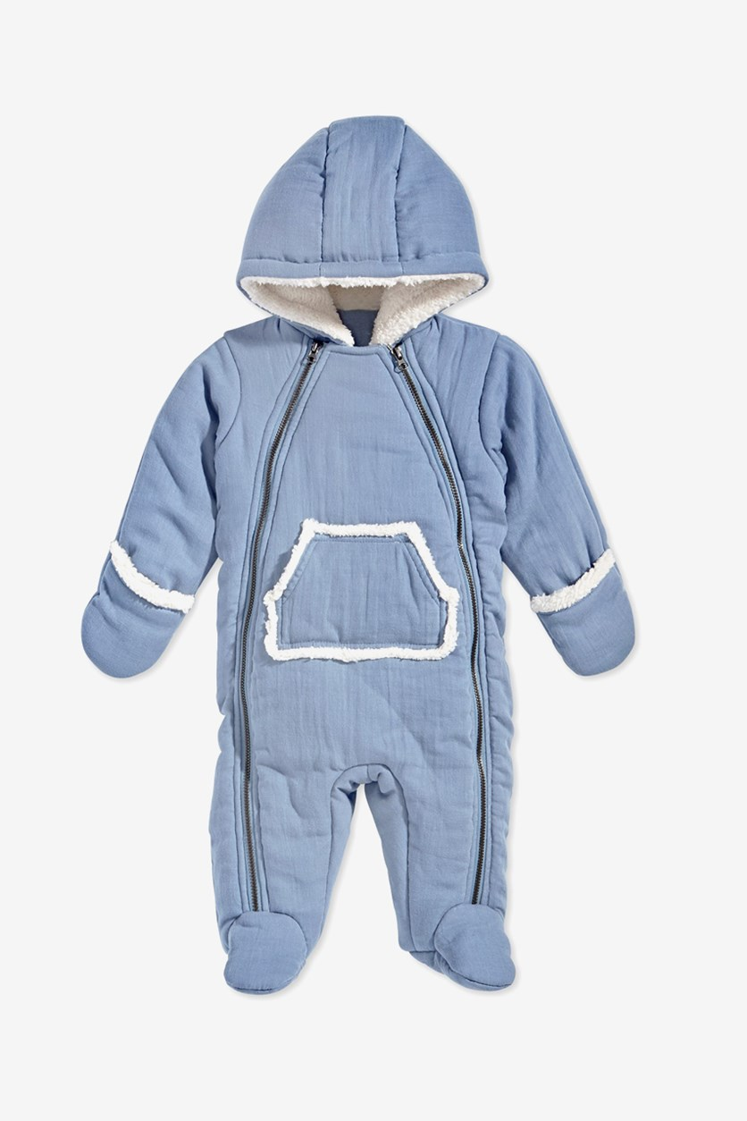 Baby Boys Hooded Snowsuit, Winter Lake
