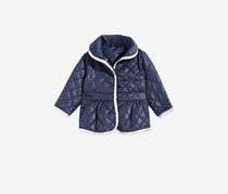 Baby Girls Quilted Barn Jacket, Navy
