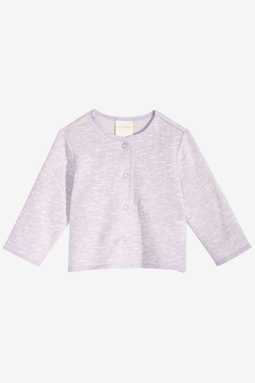 Toddler Girls Cardigan Sweater, Purple Petal