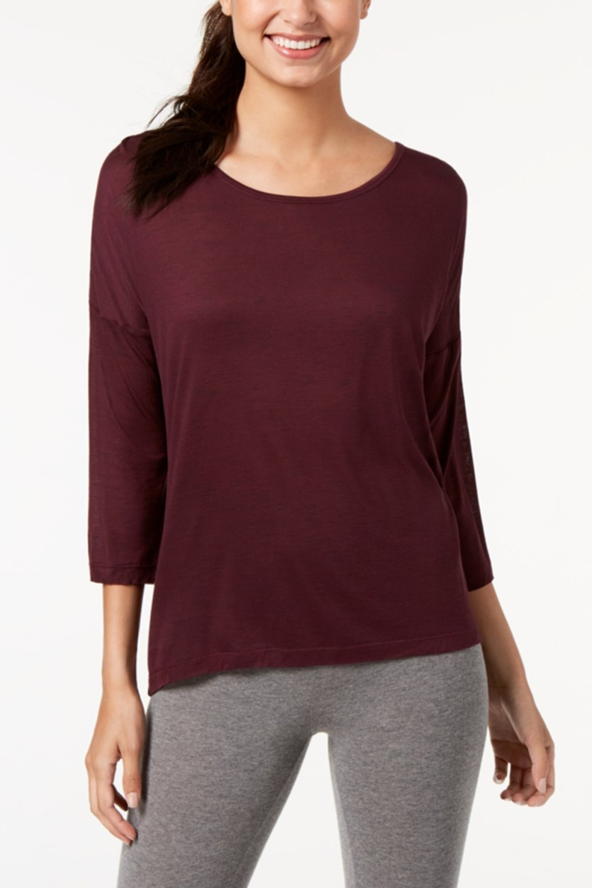 Long-Sleeve T-Shirt, Dark Red