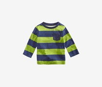 First Impressions Baby Boys Striped Pocket T-Shirt, Green/Blue