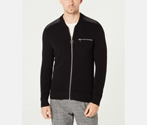 INC International Concepts Men's Knitted Sweater, Black