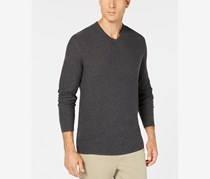 Men's Seed Stitched Supima Cotton Sweater, Charcoal Heather