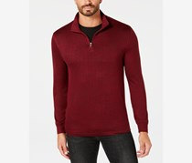 Men's 1/4 Zip Sweater, Carriage Red