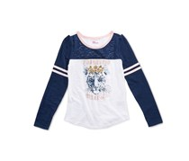 Epic Threads Big Girls T-Shirt, White/Navy