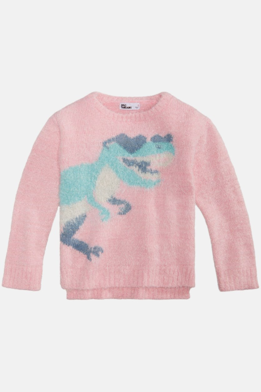 Little Girls Graphic Sweater, Pink