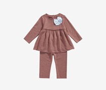 Toddler Girls 2-Pc. Bow Tunic, Hazelnut