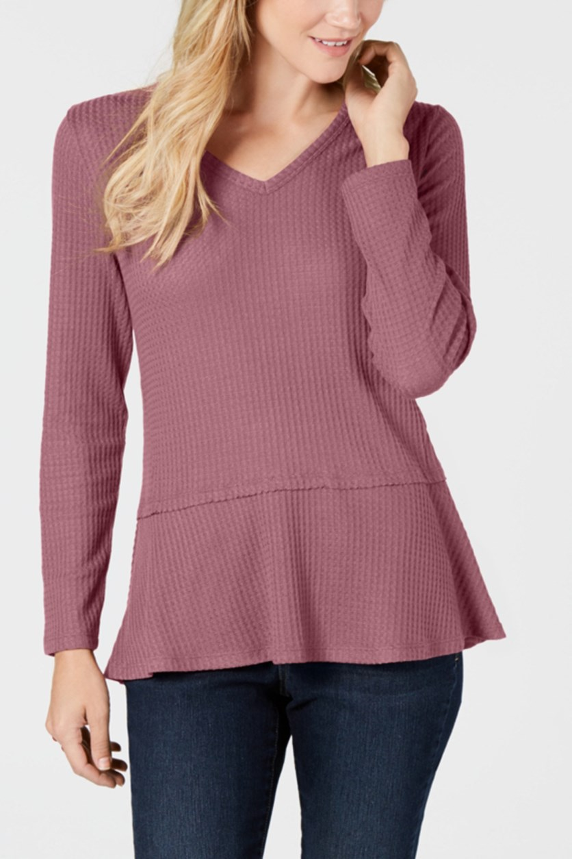 Women's V-Neck Top, Mesa Rose