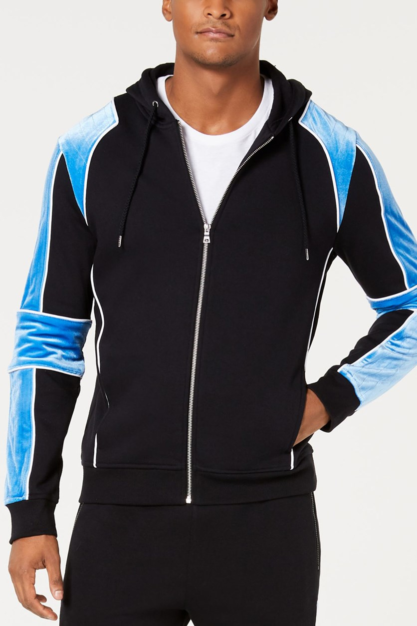 International Concepts Mens Boulder Hoodie, Vibrant Blue/Black