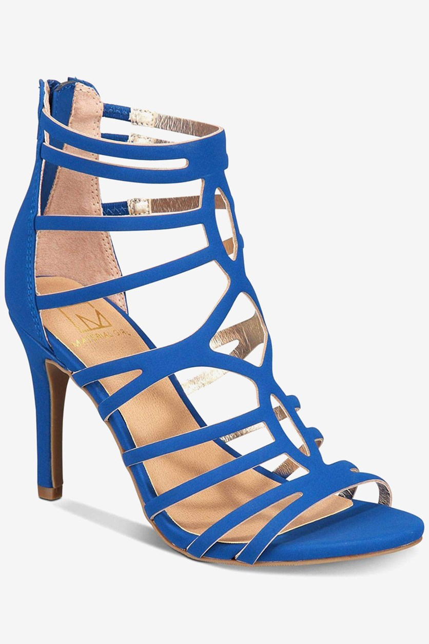 Pixie Strappy Heeled Sandals, Cobalt
