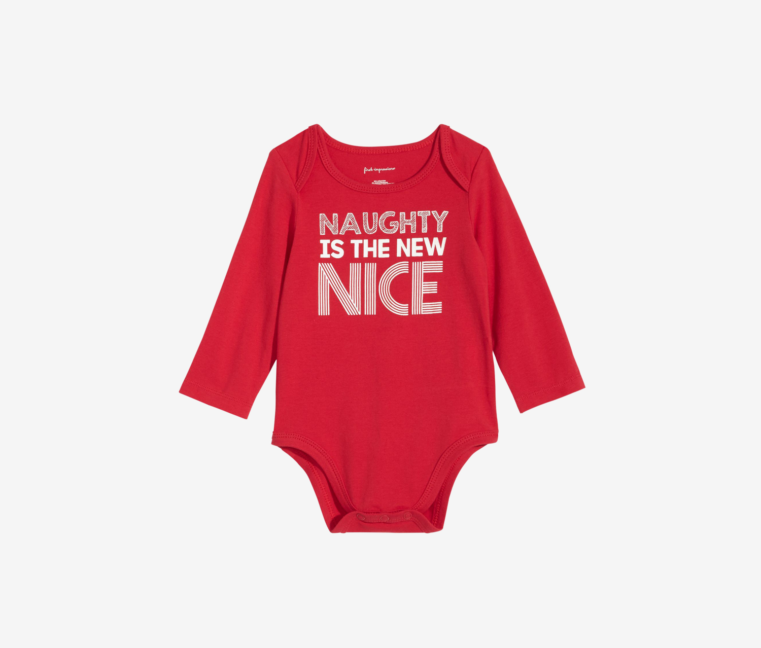 Baby Naughty Is the New Nice Bodysuit, Lipstick Red