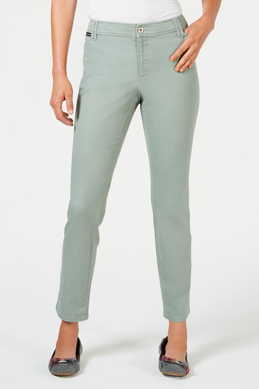 Petite Chino Pants, Sage Green