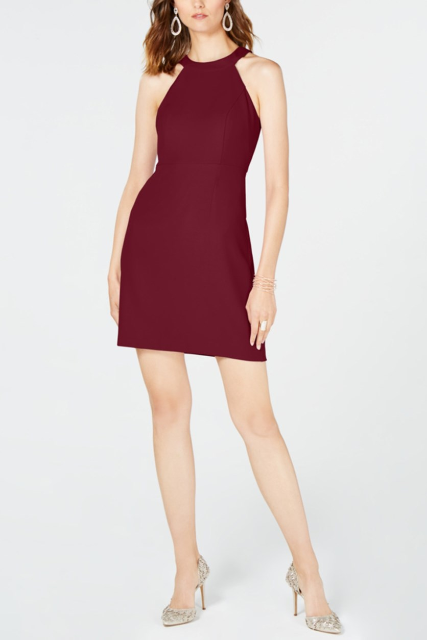 Women's Halter Shift Dress, Maroon