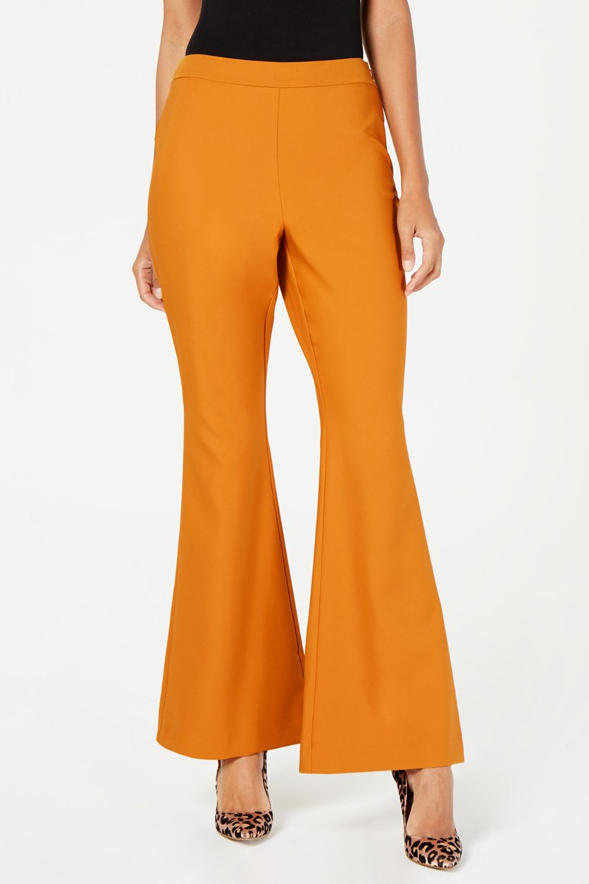 Women's Wide-Leg Suit Pants, Rusted Sunset