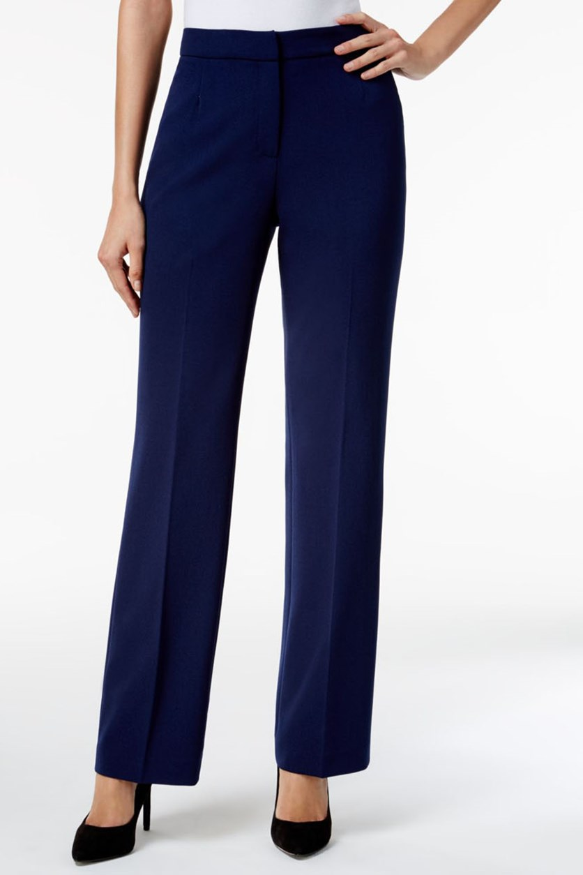 Women's Solid Trousers, Indigo