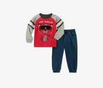 Baby Boys 2-Pcs. T-Shirt & Jogger Pants Set, Red/Denim Combo