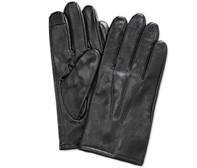 Club Room Men's Cashmere Lined Leather Gloves, Black