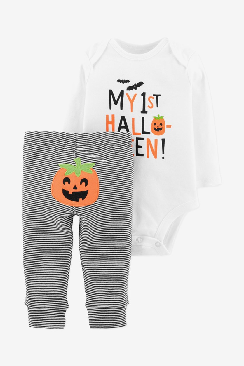 Toddler Boys & Girl's 2-Piece 1st Halloween Set, White Combo