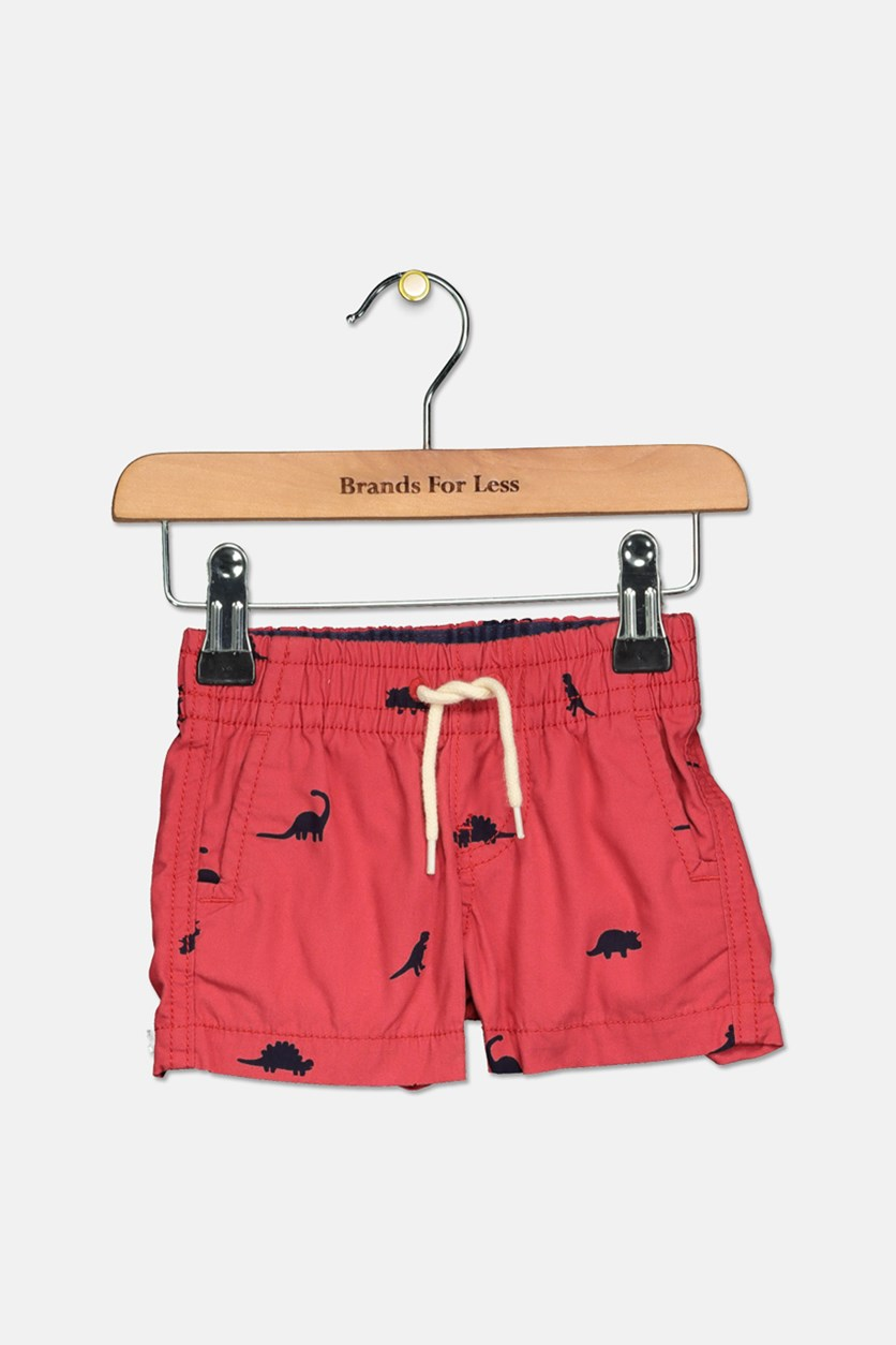 Toddler Printed Short, Red