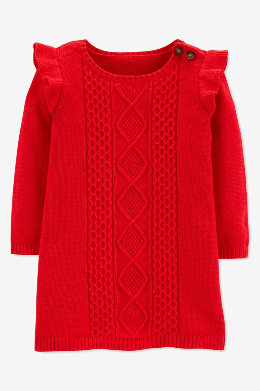 Toddler's Girl's Ruffle Dress, Red