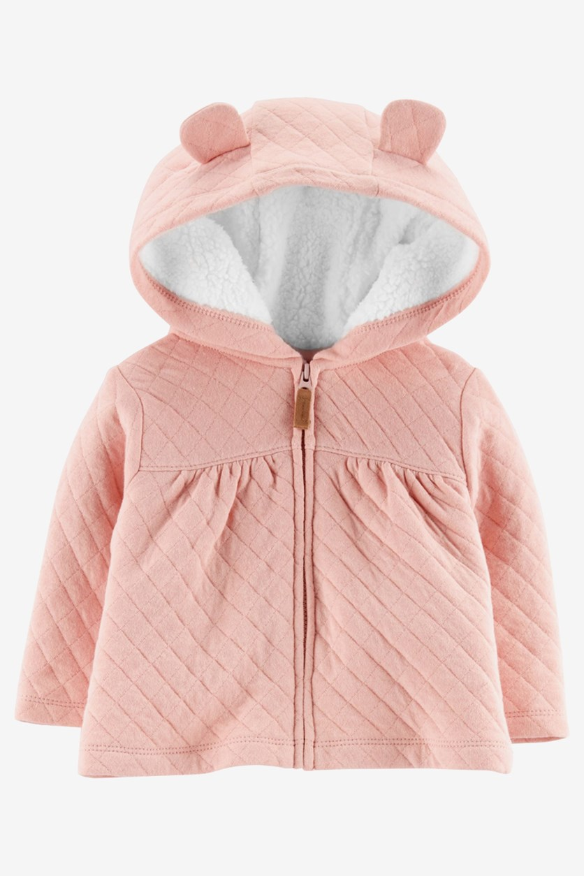 Carter's Toddler Girls Hooded Jacket with Fleece Lining, Pink