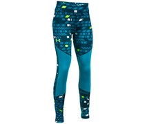 Under Armour Girl's Printed ColdGear Leggings, Blue