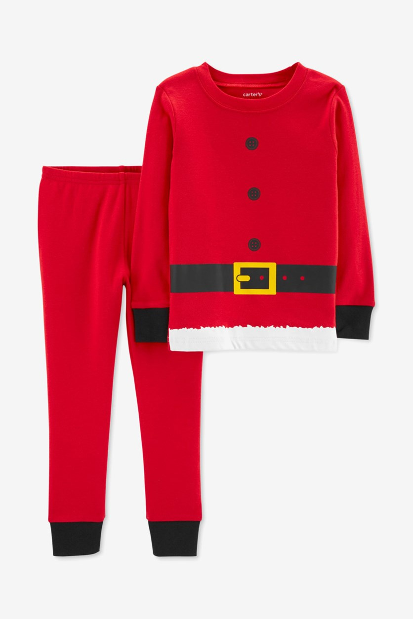 Carter's Toddler Boys Santa Suit Cotton Pajamas, Red