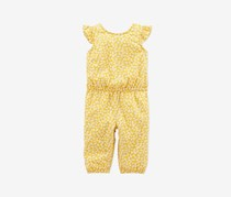 Carter's Toddler Girls Floral-Print Jumpsuit, Yellow