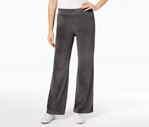 Charter Club Women's Velour Pants, Gray
