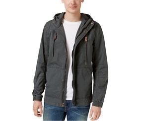 American Rag Men's Hooded Cotton Field Jacket, Dark Grey